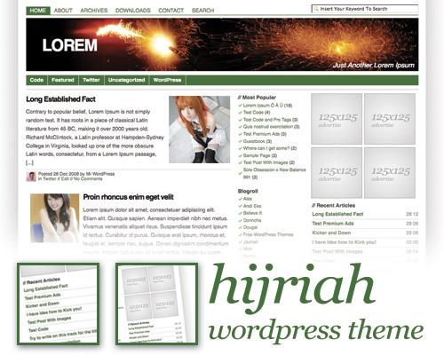 Hijriah WP Theme Screen shot