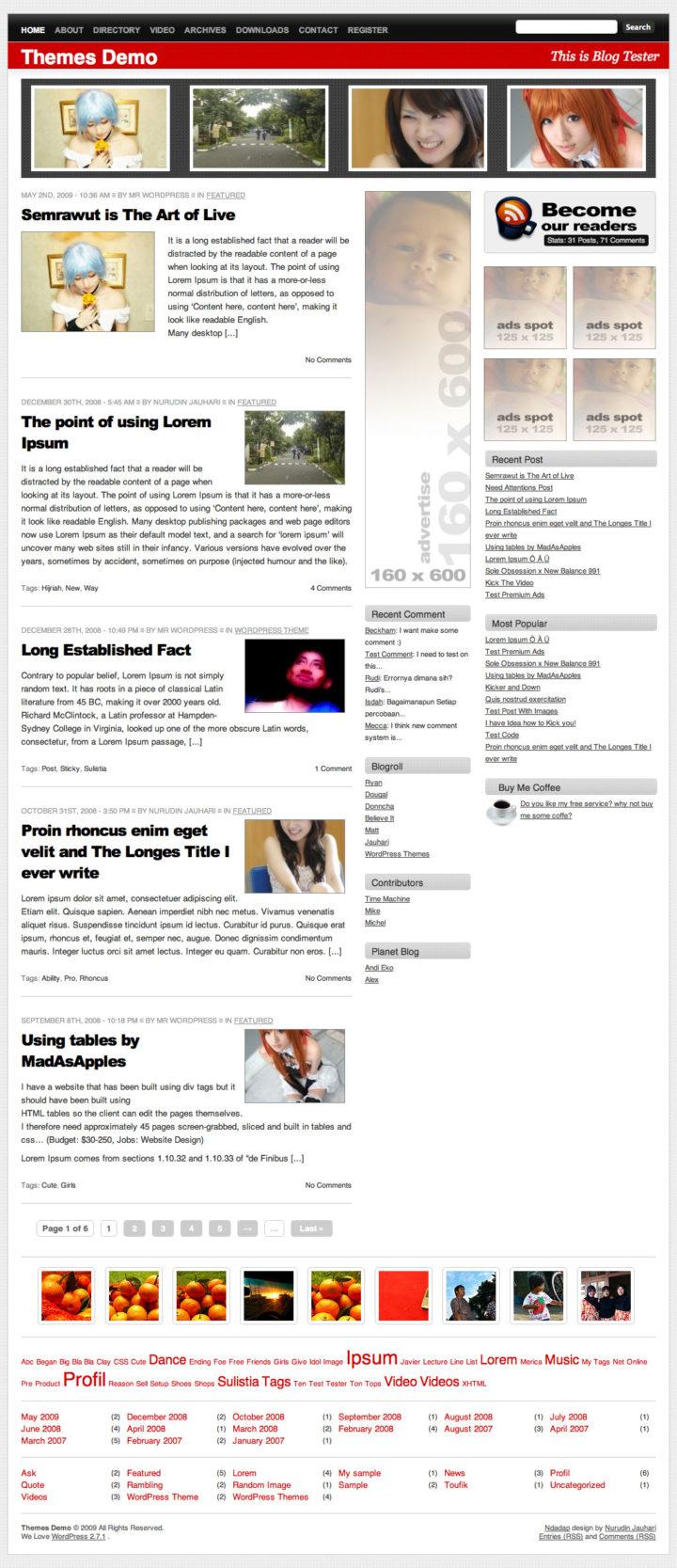 Ndadap WordPress Theme