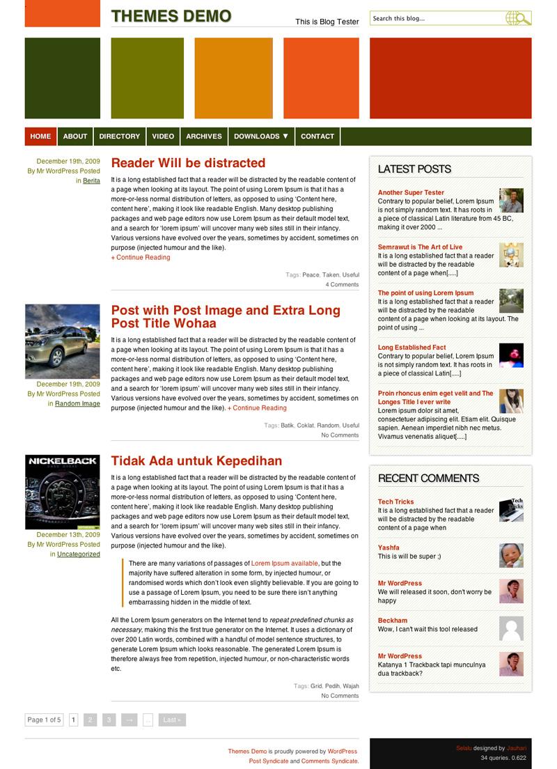 Selalu WordPress Theme Screen shoot