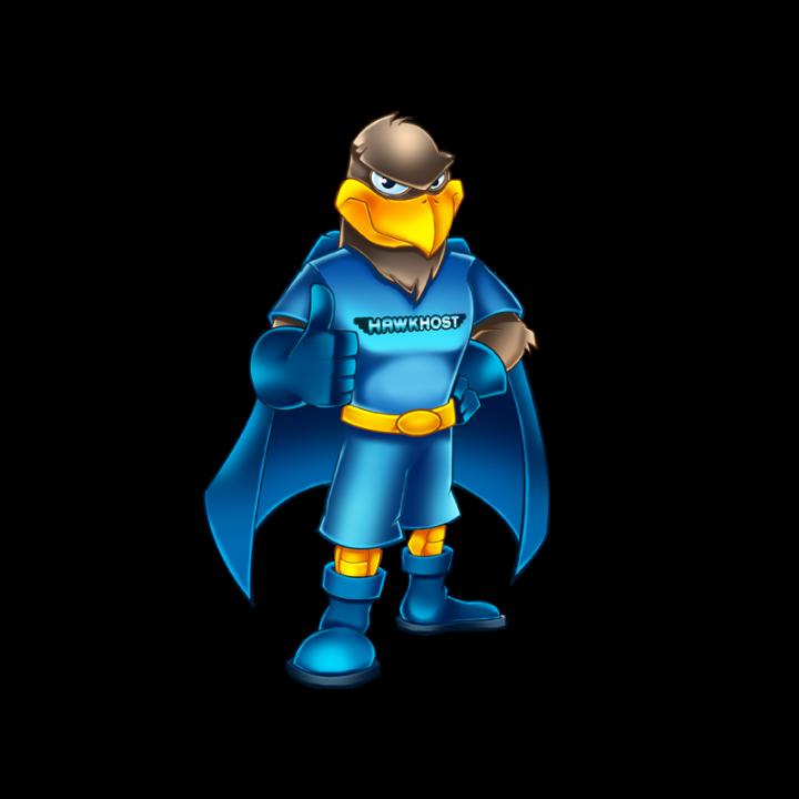Hawk Host big logo mascot
