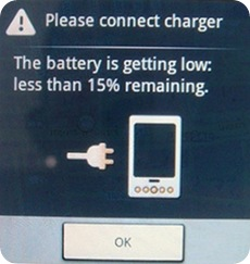 Android battery charge
