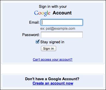 Sign in Google Plus