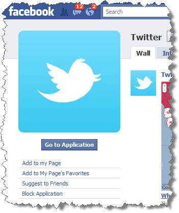 Facebook Twitter App