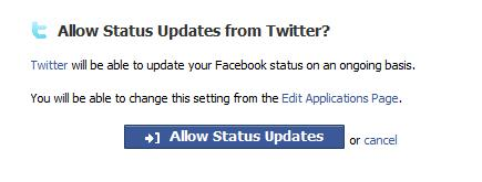 allow status update