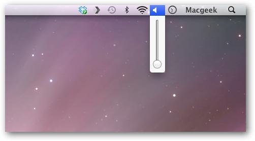 Volume OS X Setting