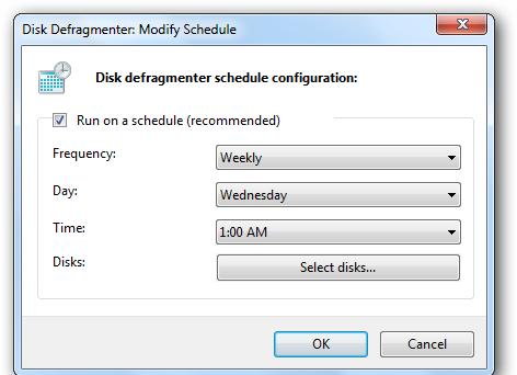 Disk Defragment Schedule