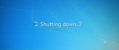computer shutting down