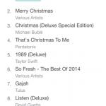 Musim Yang Baik Top Album Desember 2014 iTunes Store