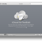 TextEdit for Mac OS X Mavericks support iCloud