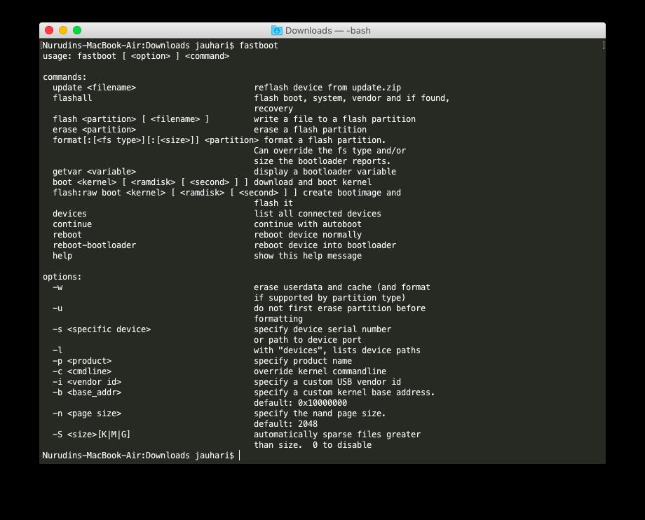 Reboot ke Bootloader Mac