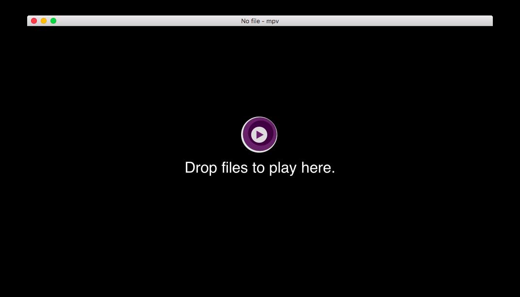 UI Interface mpv Mac OS X