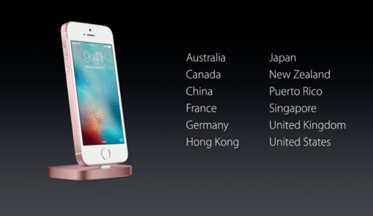 12 Negara Awal penjualan iPhone SE
