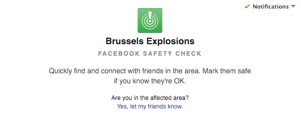 Facebook Safety Check Brussels Attack