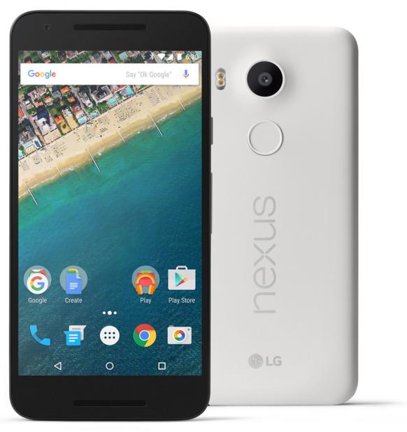 LG Nexus 5x warna Putih