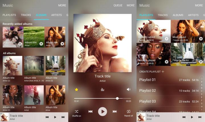 UI Samsung Music Keren