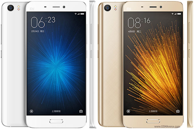 Xiaomi Mi 5 white and Gold color