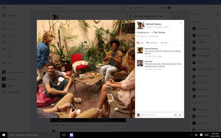 Facebook for Windows 10