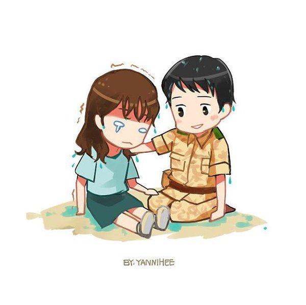 Gambar Kartun Unik Kapten Yoo Sijin & Dr. Kang Mo Yeon