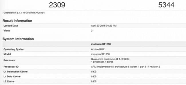 Hasil Uji Benchmark Moto X 2016