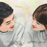 Pencil Art Song Joong Ki dan Song Hye Kyo HD