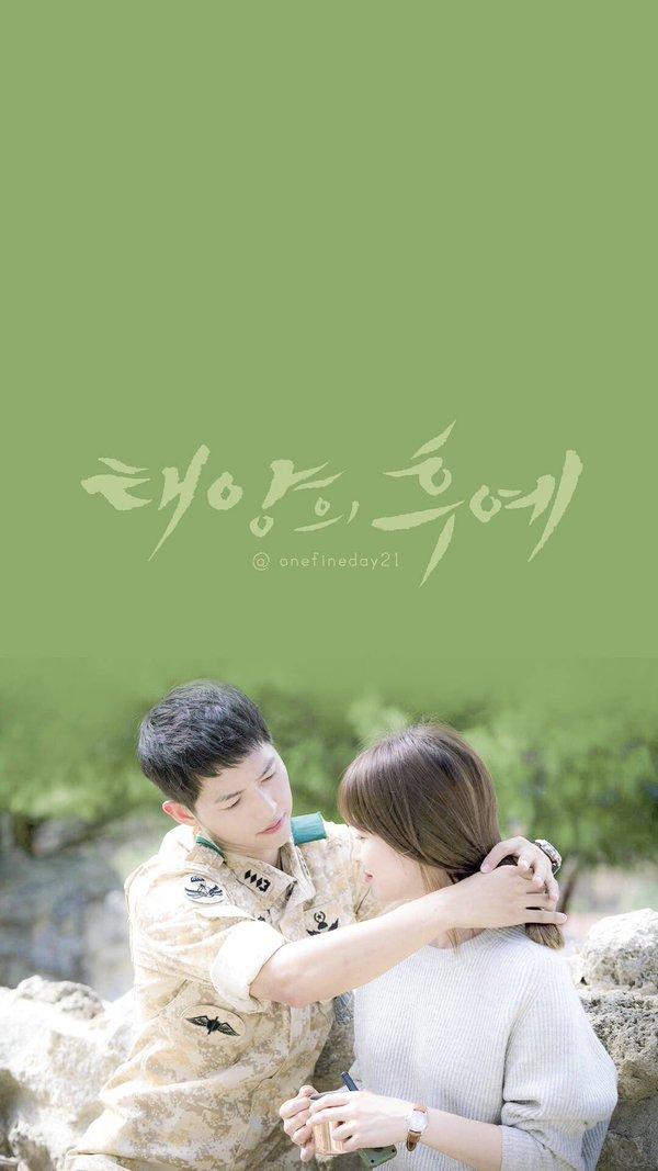 Wallpaper Smartphone Kapten Yo Si Jin dan Dr. Kang Moyeon Romance