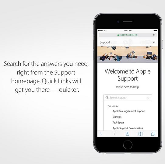 Cari Support lewat iPhone
