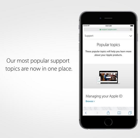 Popular Support di iPhone