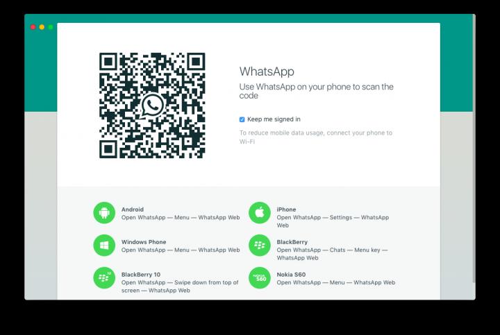 WhatsApp Desktop OS X