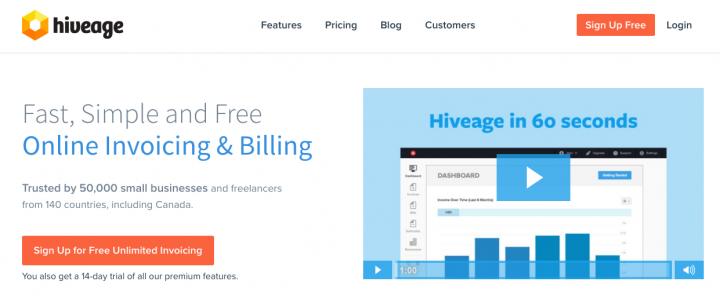 hiveage Online Invoice Generator