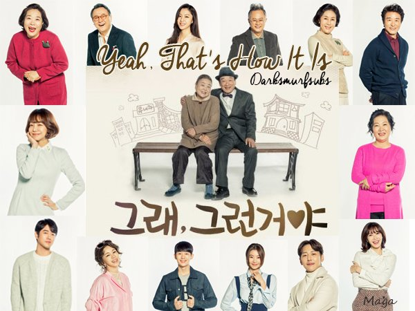 "Poster 3 K-Drama ""Yeah, That's How It Is"""