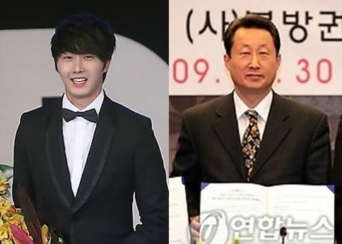 Foto Jung Il Woo's Father who is a former television newsanchor