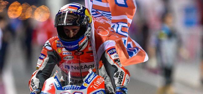 Andrea Dovizioso Aksi Brliant Di MotoGP Qatar 2018